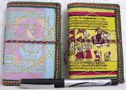 Indian Theme Stitched Cover Mini Notebooks