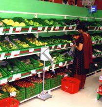 fruit vegetables racks for supermarkets