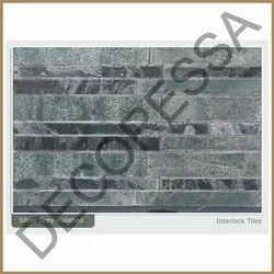 Silver Grey Polished Interlock Slab