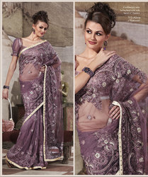 Purple Party Wear Saree