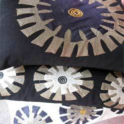 Sunflower Applique Cushion Covers