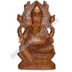 Wooden Antique Ganesha Statues