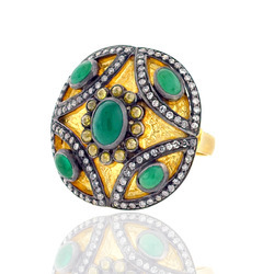 Emerald Studded Ring
