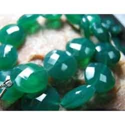 Green Onyx Faceted Coin - Size 10-12MM