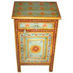1 Drawer Painted Bed Side