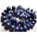 Sapphire Faceted Teardrops-Genuine Blue