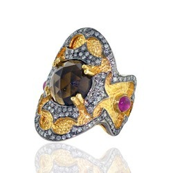 Diamond designer gold Rings