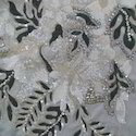 Embroidery Work on Wedding Gown