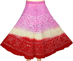 Cotton Bandhani Skirts