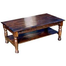 Takhat Coffee Table with Bottom Shelf