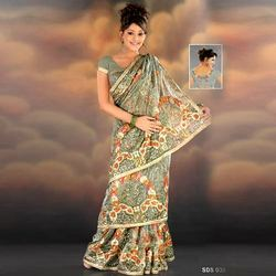Heavy Embroidered Tissue Sarees