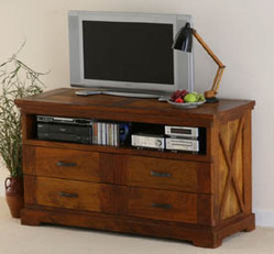 Mango Wood Tv Dvd Cabinet