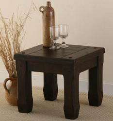 Baku Dark Solid Mango Side Table