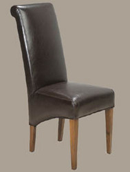 Mantis Dark High Back Leather Chair