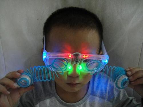 Flashing Glasses with Eyeball