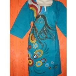 Painted Cotton Kurti