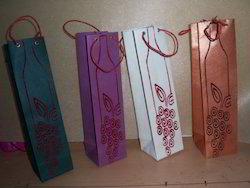 Grape Theme Wine Bottle Bags
