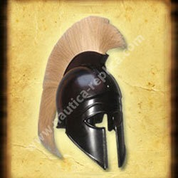 Greek Corinthian Helmet With Plume