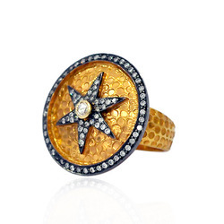 Star pave diamond Designer rings