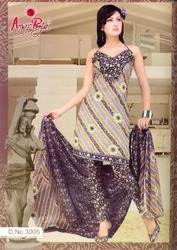 Indian designer cotton printed salwar suit dress
