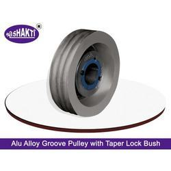 Aluminium+V+Groove+Pulley+With+Taper+Lock+Bush