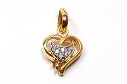 Gold Heart Pendants