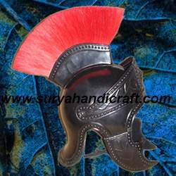 Roman Black Brass Officer Helmet