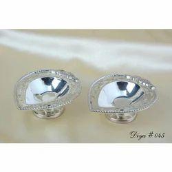 Silver Identical Silver Diya