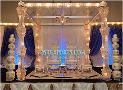 New Designer Crystal Metal Mandap