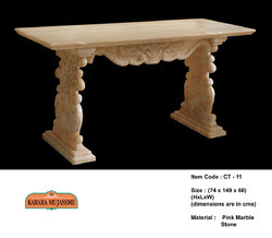 Pink Marble Stone Console & Tables
