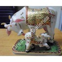 Marble Cow Mother Statue