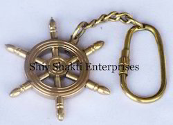 Brass Ship Wheel Key Chains
