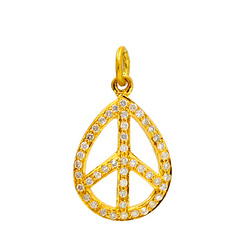 Yellow Gold Diamond Pendants