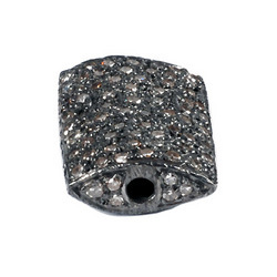 Pave Diamond Studded Beads