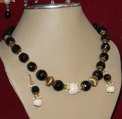 Real Stone Necklace With Earings