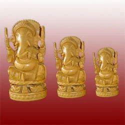 Ganesha Wooden Statues