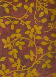 Floral Design Flock Printed Handmade Paper