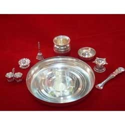 Pooja Set No 9 & Fancy Silver Plated Articles - Pooja Set No 9 Wholesale Trader from ...