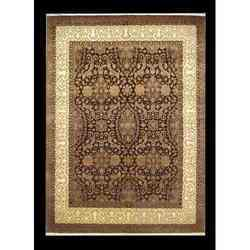 Wool & Silk Carpet- Brown