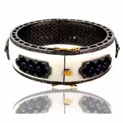 sapphire enamel bangle