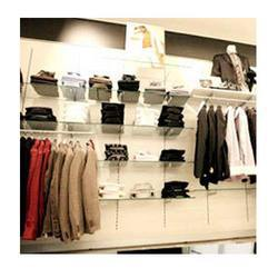 Apparel Racks On Slatwall Board
