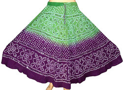 Cotton Bandhej Skirts