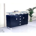 Office Wardrobe Black With Glass Top