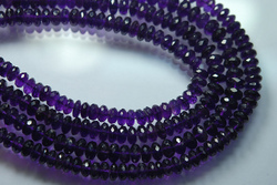 Purple Amethyst Faceted Round Rondelles Briolettes