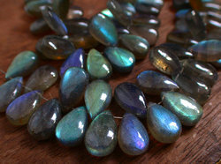 Labradorite Smooth Polished Long Pear Briolette Beads