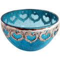 adorned with metal designer bowl