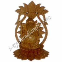 Wooden Flower Ganesha
