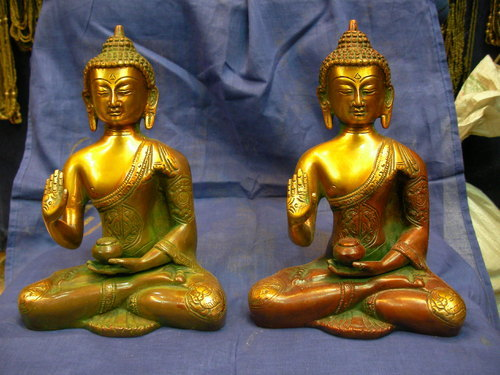 Brass Flat Buddha Statue