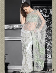 White Cute Sarees
