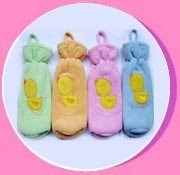 Colored Baby Bottle Covers